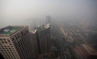 Pollution sur Pékin, le 29 octobre 2011.