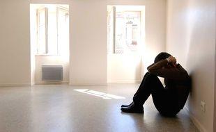 Illustration d'un homme en souffrance.
