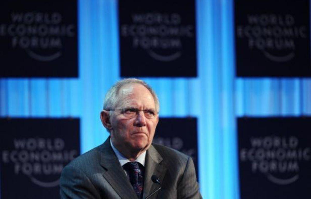 La zone euro peut supporter une sortie de la Grèce, a estimé le ministre allemand des Finances, Wolfgang Schäuble, dans un entretien au quotidien régional allemand Rheinische Post, paru vendredi. – Vincenzo Pinto afp.com