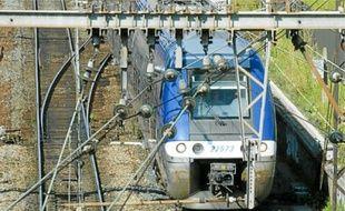 La ligne de TER Lyon-Ambérieu.
