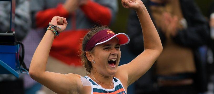 La joueuse française Clara Burel, ici lors de la demi-finale du Masters Juniors de tennis à Chengdu, en Chine.