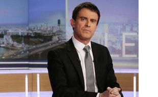 Le Premier ministre Manuel Valls, le 2 mars 2014 sur le plateau du 20h de TF1.