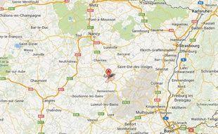 Google map d'Epinal.