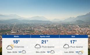 Météo Grenoble: Prévisions du vendredi 19 avril 2019