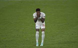 Marcus Rashford a manqué son tir au but contre l'Italie.