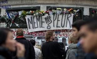 Place de la République, à Paris, le 16 novembre 2015.