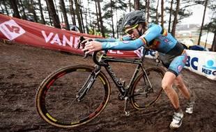 La Belge Femke Van Den Driessche aux Mondiaux de cyclocross le 30 janvier 2016.