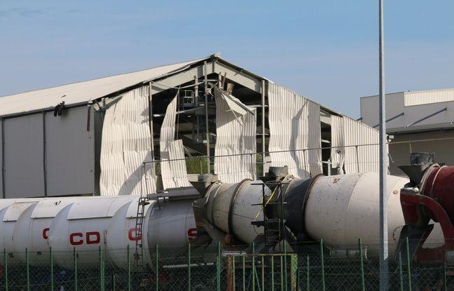 Un bâtiment de l'entreprise a été endommagé par le souffle de l'explosion