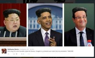 Exemple de détournements sur la nouvelle coupe de cheveux de Kim Jong Un