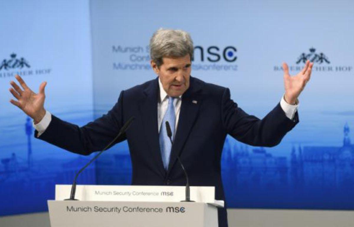 Le secrétaire d'Etat américain John Kerry à Munich, le 13 février 2016 – Christof STACHE AFP