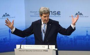 Le secrétaire d'Etat américain John Kerry à Munich, le 13 février 2016