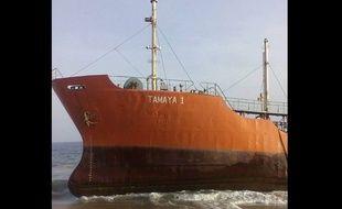 Le pétrolier s'est échoué sur une plage du Liberia avec aucun membre d'équipage à son bord.