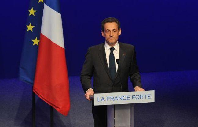 Nicolas Sarkozy fait un discours à la Mutualité après avoir perdu l'élection présidentielle face à François Hollande.