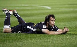 Le buteur de Bordeaux Fernando Cavenaghi le 28 septembre 2008 contre Saint-Etienne lors d'un match de Ligue1 au stade Chaban-Delmas.