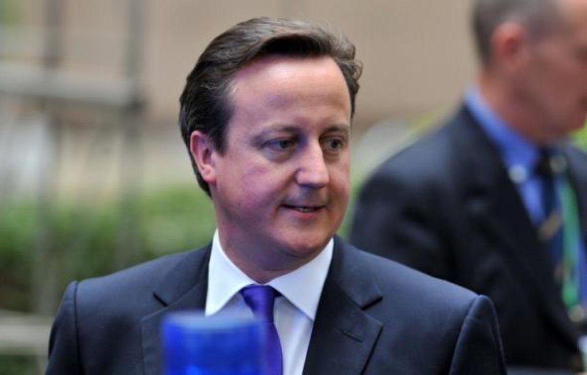 """Le Premier ministre britannique David Cameron a reconnu les """"profonds désaccords"""" au sein de la coalition au pouvoir mais a appelé les deux partis à les mettre de côté, dans une lettre publiée dans le Sunday Times après des tensions entre conservateurs et libéraux-démocrates. – Georges Gobet afp.com"""