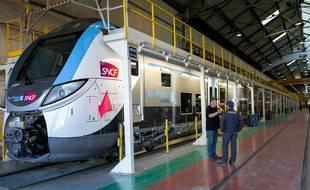 Un Regio 2N dans un atelier Bombardier. (Illustration)