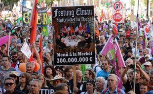 Des manifestants anti-G7, le 4 juin 2015 à Munich