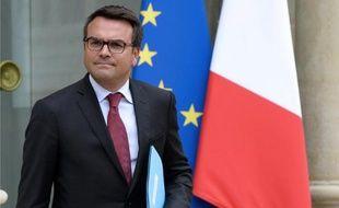 Thomas Thévenoud quitte l'Elysée, le 27 août 2014 à Paris
