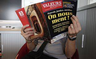 Le magazine Valeurs actuelles en 2013 (illustration)