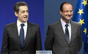 Candidats à l'élection présidentielle, Nicolas Sarkozy et François Hollande sont en tête des sondages.