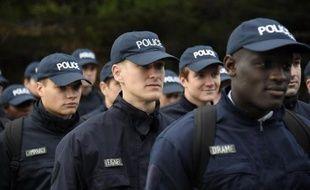 Des élèves policiers, le 5 novembre 2014 à l'Ecole nationale supérieure de police (ENSP) de Nîmes
