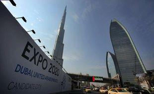 La ville de Dubaï, alors candidate pour accueillir l'Exposition universelle de 2020.