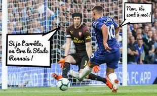 Qui d'Eden Hazard ou de Petr Cech affrontera le Stade Rennais en 16e de finale de Ligue Europa ?