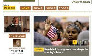 La page d'accueil de The Root, un magazine en ligne qui vise le lectorat noir
