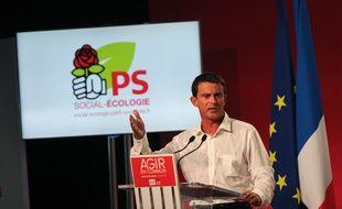 Manuel Valls lors de son discours dimanche 30 août, pour la fin de l'université d'été du PS.