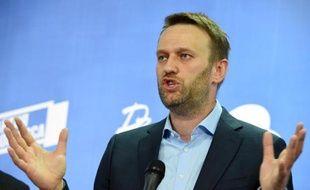 Le numéro un de l'opposition Alexeï Navalny, le 22 avril 2015 à Moscou