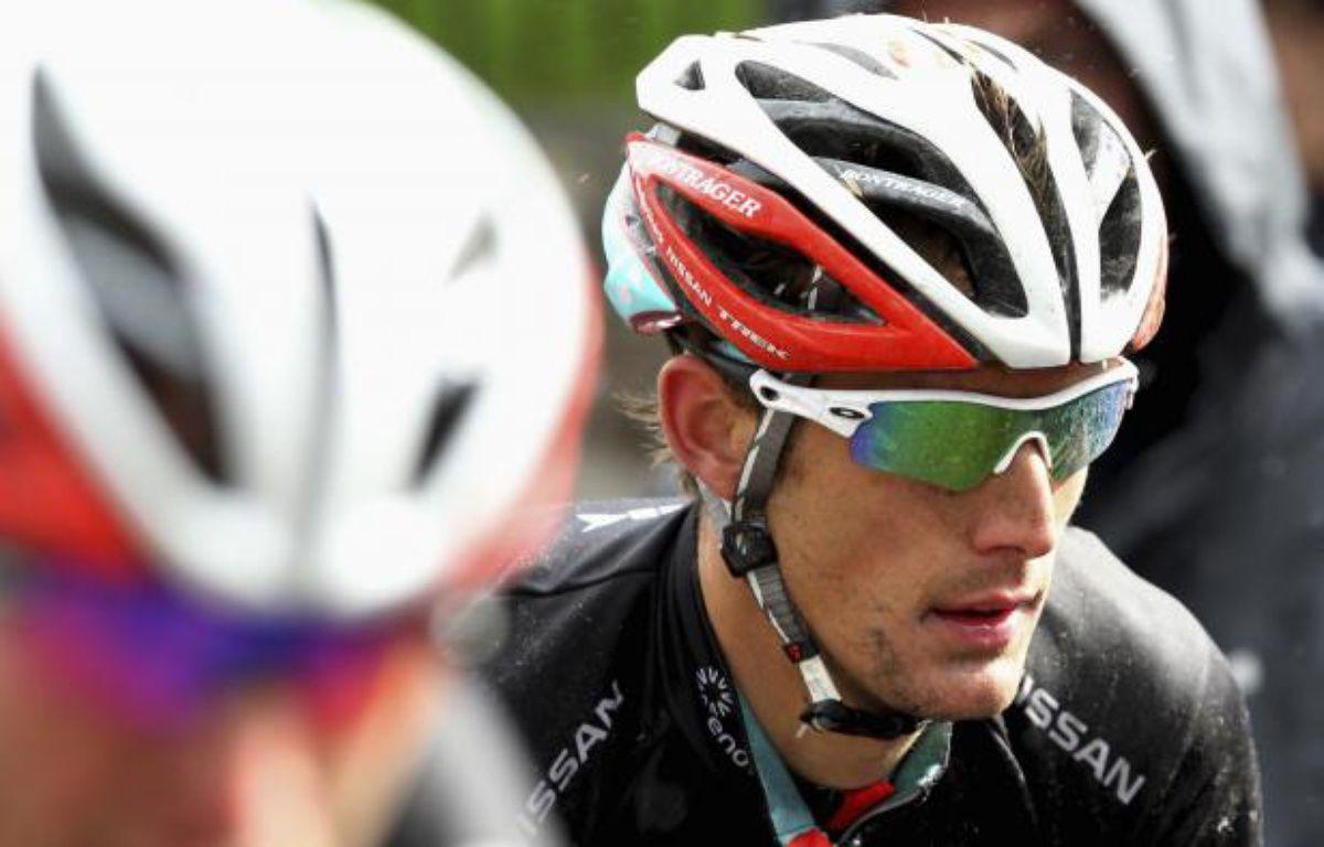Le coureur luxembourgeois Andy Schleck, lors de la Flèche brabançonne, le 11 avril 2012. – F.Lenoir/REUTERS