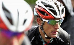 Le coureur luxembourgeois Andy Schleck, lors de la Flèche brabançonne, le 11 avril 2012.