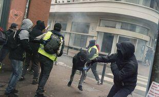 Des incidents lors de l'acte 11 du mouvement des manifestation des «gilets jaunes», le 26 janvier 2019 à Toulouse.