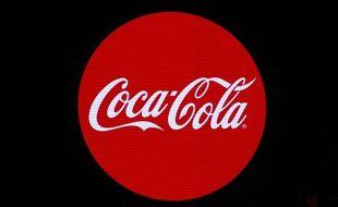 Le logo de Coca-cola lors de la présentation d'une nouvelle campagne pubicitaire le 19 janvier à Paris