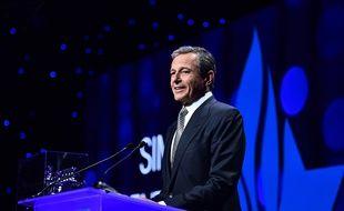 Bob Iger, PDG du groupe Walt Disney, le 10 avril 2019 au Centre Simon-Wiesenthal, ONG luttant contre l'antisémitisme et le racisme.