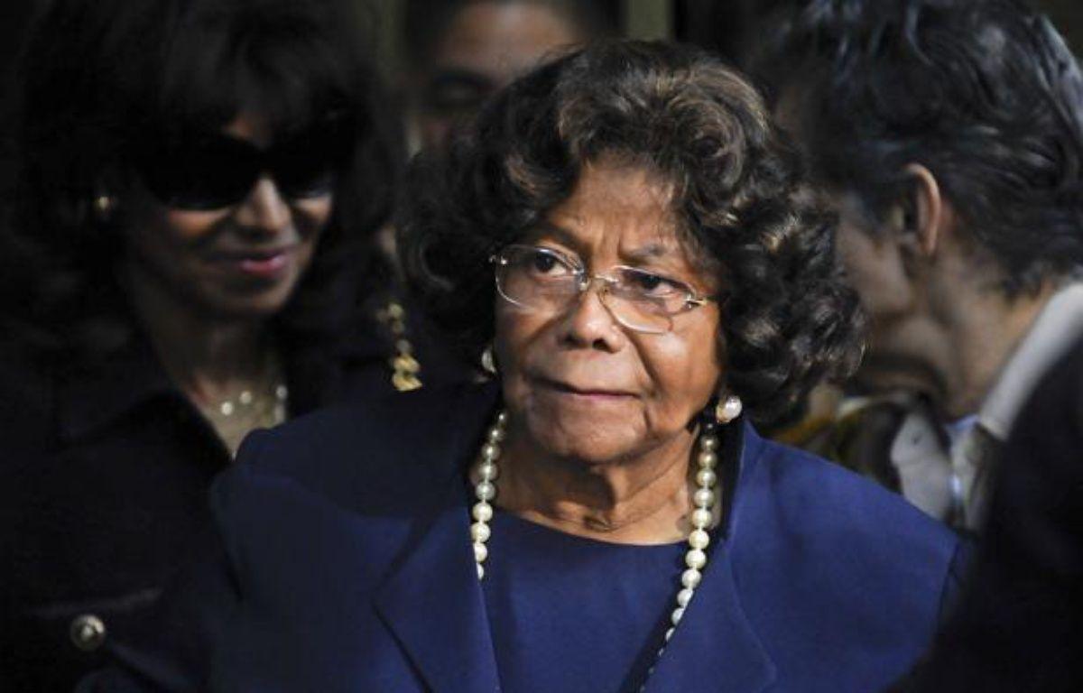 La mère de Michael Jackson, Katherine Jackson, après le verdict concernant  la responsablilité de Conrad Murray dans la mort de son fils, le 29 novembre 2011 à Los Angeles. – Gus Ruelas/REUTERS