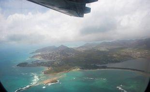 Une vue aérienne de l'île de Saint-Martin après le passage de l'ouragan Irma.