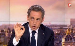 Nicolas Sarkozy au 20H de France 2 le 21 septembre 2014