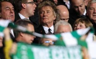 Rod Stewart dans les tribunes du Celtic Park, le 7 novembre 2012 à Glasgow.