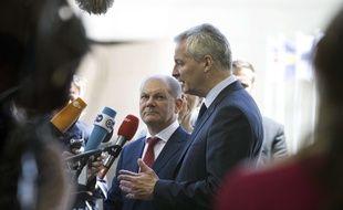 Le ministre de l'Economie Bruno Le Maire à Luxembourg jeudi 21 juin 2018.