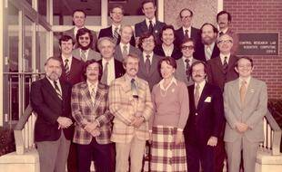 Le groupe de travail Lidar navette, NASA Langley Research Center, 1978. Marie-Lise est au premier rang