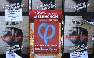 Des affiches pour Jean-Luc Mélenchon