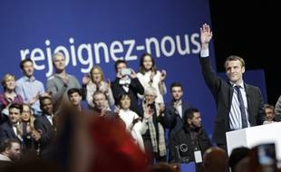 Emmanuel Macron en meeting à Lille le 14 janvier 2017