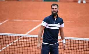 Benoît Paire après son 2e tour victorieux face à Pierre-Hugues Herbert à Roland-Garros.