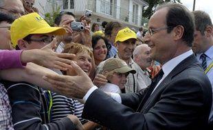 François Hollande était sur le Tour de France le 20 juillet 2012.