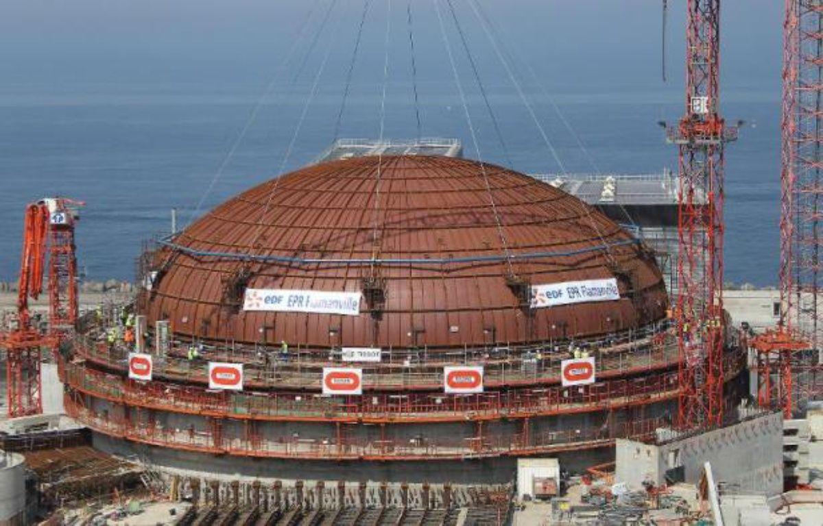 L'un des deux réacteurs de la centrale nucléaire de Flamanville (Manche). – Charly Triballeau AFP