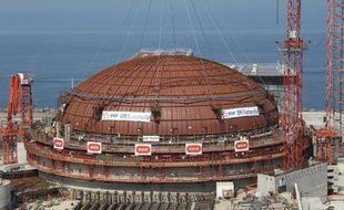 L'un des deux réacteurs de la centrale nucléaire de Flamanville (Manche).