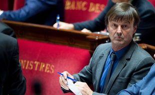 Le ministre de la transition écologique et solidaire Nicolas Hulot, le 31 octobre 2017 à l'Assemblée nationale à Paris