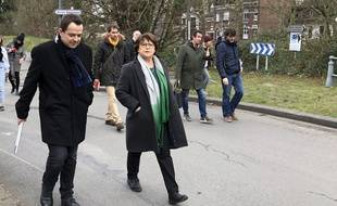 Martine Aubry, en campagne pour les municipales 2020.