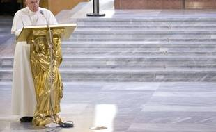 Le Pape François à Rome le 21 mars 2014.